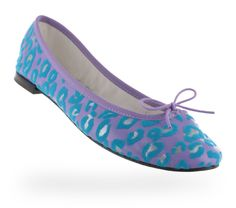 Ballerina Cendrillon Leopard-like Toulouse violet, tropic green and silver by Repetto - Collection spring-summer 2014