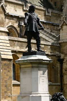 London - statue of Oliver Cromwell outside the Palace of Westminster