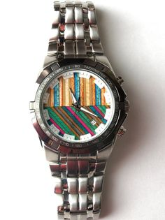 Mens Watch. Recycled Skateboards. The face of this watch is made by hand in Canada from used, broken and old skateboards.