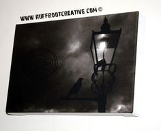 Throop Corvid Lamp and Storm by RuffRootCreative on Etsy, £30.00