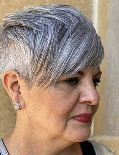 Best Short Pixie Haircuts for Older Women in Year 2021 Latest Short Haircuts, Short Pixie Haircuts, Pixie Hairstyles, Short Hair Cuts, Pixie Haircut Styles, Hair Styles, Haircut For Older Women, Pixie Cuts, Cool Style