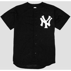 NY Yankees Jersey XL ($8) ❤ liked on Polyvore featuring tops, t-shirts, jersey, shirts, boys, shirts & tops, jersey tops, jersey t shirts, jersey tee and t shirts