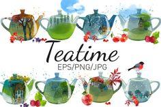 Teatime by Tatiana_davidova on @creativemarket