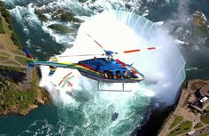 Riding in a helicopter is definitely on my bucket list. There's a company that does helicopter tours of one of the other Hawaiian islands that I definitely want to see. Niagara Falls Boat, Niagara Falls Helicopter, Niagara Falls Vacation, Niagara Falls Attractions, Helicopter Tour, Niagara Region, Star Tours, Canada, Stay The Night