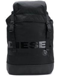 Diesel Monochrome Backpack In Black Stella Maccartney, Black Diesel, Man Up, Velcro Straps, Black Backpack, Kids Wear, Salvatore Ferragamo, Baby Design, Monochrome