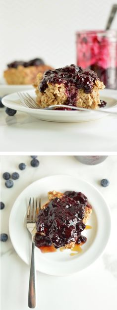 Healthy Baked Oatmeal | nourishedtheblog.com | A gluten free and healthier take on the classic baked breakfast dish. This baked oatmeal is loaded with gluten free oats, ground flax and cinnamon and topped with a simple mixed berry sauce. Click through for this recipe.