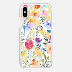 Must have Snap Case - Watercolor Flowers by Pineapple Bay Studio🌺 Available for iPhone X, iPhone 8, iPhone 8+, iPhone 7 and iPhone 7+. - Shop them here ☝️☝️☝️BEAUTIFUL BUT TOUGH ✨ - Summer, Colorful, Artistic, Floral, Flowers, Cases for girls- #Floral #Watercolor #iPhonecase