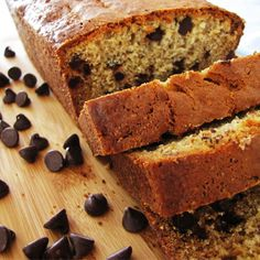 Peanut Butter Chocolate Chip Banana Bread Recipe from Mamma's Recipes