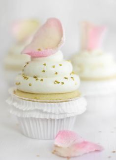 Sprinkle Bakes: Vanilla-Rosewater Cupcakes for the ModCloth Blog!