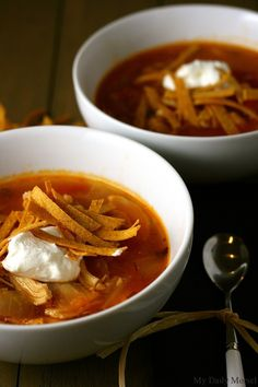Looking for Fast & Easy Chicken Recipes, Soup Recipes! Recipechart has over free recipes for you to browse. Find more recipes like Ancho Chicken Tortilla Soup. Mexican Food Dishes, Mexican Food Recipes, Ethnic Recipes, Main Dishes, Easy Chicken Recipes, Soup Recipes, Sauces, Chicken Tortilla Soup, Chicken Soup