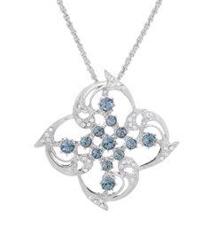 Sapphire Swirl Pendant Necklace Made With SWAROVSKI ELEMENTS