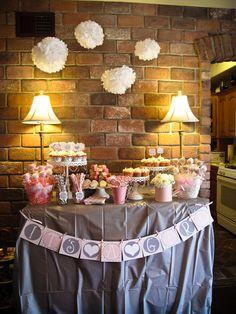Pink and Gray Chevron - Birthday or Shower Invitation - Printable DIY. $13.00, via Etsy.