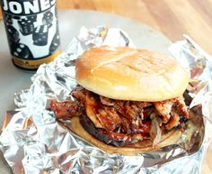 Pulled Pork Sandwich with Homemade Barbeque Sauce