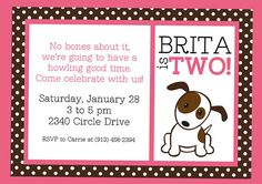 Puppy Dog Party INSTANT DOWNLOAD Party Pack for Girls by RVparties