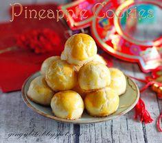 黄梨酥/黄梨塔 Melt in the mouth pineapple cookies - made homemade no-sugar-added pineapple filling!