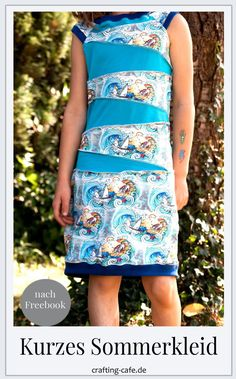 Summer dress for girls - pattern for free Girls Dresses, Summer Dresses, Casual Blazer, Diy Tutorial, Diy And Crafts, Crochet, Pattern, Inspiration, Freebies
