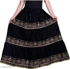 Ethnic Bottomwear - Skirts Stylish Women's Skirt Fabric: Cotton Size: Up To 28 in To 36 in (Free Size) Length: Up To 40 in Type: Stitched Description: It Has 1 Piece Of Women's Skirt  Work: Printed Country of Origin: India Sizes Available: Free Size, 34, 36, 38, 40, 42, 44   Catalog Rating: ★4.1 (1781)  Catalog Name: Graceful Stylish Women's Skirts Vol 3 CatalogID_682105 C74-SC1013 Code: 053-4696262-348