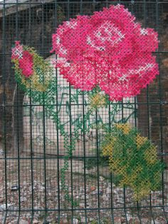 Gorgeous yarn bombing!   Unsure of original source