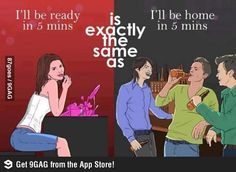 What 5 mins mean for women and men.@Jason Moir