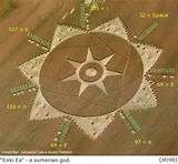 "Crop Formation, Symbol for Sumerian God Enki Ea, Appears in Poirino Italy. The Poirino 2011 contains some coded information. Among other things, the outer rim contains the names ""Enki Ea"", coded in ASCII. These are names of a Sumerian god: Lord of the earth, god of water, creator of mankind etc see http://en.wikipedia.org/wiki/Enki"