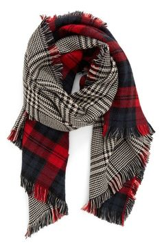 BP. Reversible Scarf available at #Nordstrom #Fall #BlackRed