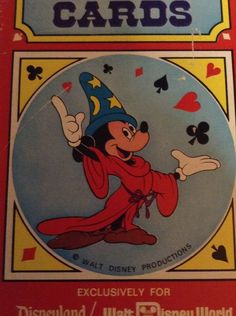 Disneyland Magic Shop Vintage Jumbo Playing Cards Mickey Mouse