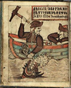 Thor gets the Midgard serpent on the hook