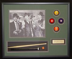 Great gift for the pool shark in your life-how about #customframed pool memorabilia in a shadow box?