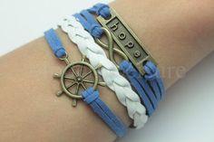 Believe charm bracelet Hope charm bracelet Faith por ModernLeisure