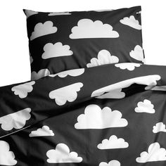 Black cloud bedding for single bed