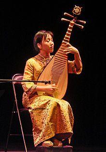 Chinese instrument, playing Pia'pa