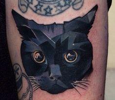 Tatuagem Gato Preto by Halasz Matya