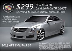 Just announced! 0% financing on all remaining 2013 model Cadillacs. Stop in today!