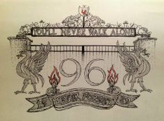 Liverpool FC tattoo design - drawn in pen.