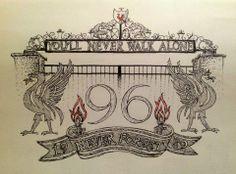 Liverpool FC tattoo design - drawn in pen.                                                                                                                                                                                 Mehr
