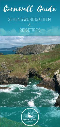 Cornwall Reiseführer  – Die besten Cornwall Sehenswürdigkeiten, Reisetipps, Insidertipps, Ferienhäuser, Highlights und Must Sees die jeder besichtigt und gemacht haben sollte. Cornwall England, Strand, Highlights, German, Wanderlust, Water, Travel, Outdoor, Travel Advice