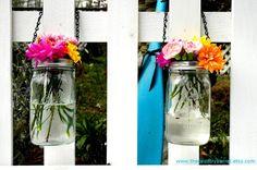 little hanging flower arrangements
