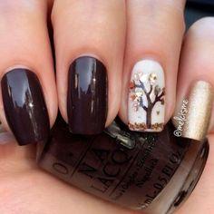 Chic Nail Designs, Fall Nail Art Designs, Acrylic Nail Designs, Chic Nails, Trendy Nails, Autumn Nails, Winter Nails, Fall Gel Nails, Nails Design Autumn