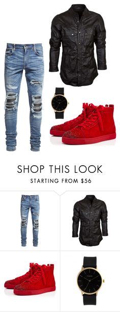 """""""Photo shoot"""" by tessaslay ❤ liked on Polyvore featuring AMIRI, Christian Louboutin, men's fashion and menswear"""