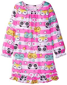 Komar Kids Big Girls' Beauty Sleep Gown  Komar Kids Big Girls' Beauty Sleep Gown Long Sleeve Gown. Made of 100 percent polyester. Knitted fabric.  http://www.allsleepwear.com/komar-kids-big-girls-beauty-sleep-gown/