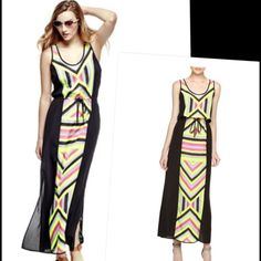 Michael Kors Chevron Paneled Maxi Dress size 2-3 Excellent condition. A real comfy, breezy, beautiful dress perfect for summer. 100% polyester. Measures 58 length. I say that it will fit a size 2-3 perfectly. Michael Kors Dresses Maxi