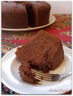 Mexican Chocolate Buttermilk Pound Cake by Yesterfood: luscious, rich, chocolate pound cake