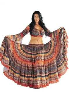 Amazon.com: Miss Belly Dance Belly Dancer 25 yard Skirt and Top Costume Set | Meli du Chant | Blue | One Size: Clothing