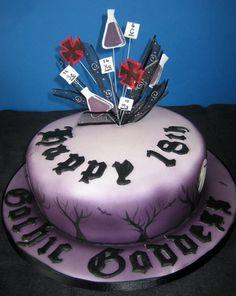 Cake for a gothic scientist Handmade Chocolates, Novelty Cakes, Christening, Wedding Cakes, Gothic, Birthdays, Birthday Cake, Desserts, Food