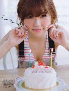 AKB48 Haruka Shimazaki on Entame Magazine
