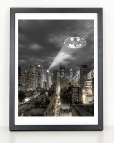 Fancy - Bat Signal Gotham City Poster