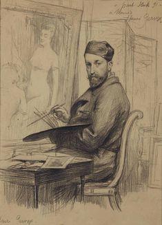 steck, paul albert- Portrait of Henri Gervex Pastel Crayons, Drawing Sketches, Drawings, Vintage Drawing, Portrait Art, Portraits, Old Art, French Art, Art Google