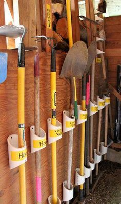 use PVC pipe for outside tools - because every part of your home needs attention!