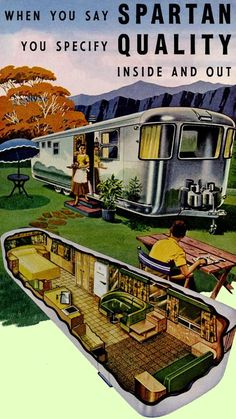 Fabulous color ad for the 1953 Airstream Spartan travel trailer. Camping Gaz, Camping Glamping, Camping Tips, Camping Outdoors, Camping Checklist, Camping Essentials, Airstream Camping, Airstream Living, Family Camping