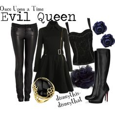 OUAT- Evil Queen, created by disneythis-disneythat on Polyvore - I would soooo wear this
